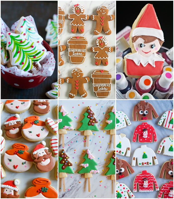 Decorated Christmas Cookie Inspiration + recipes!