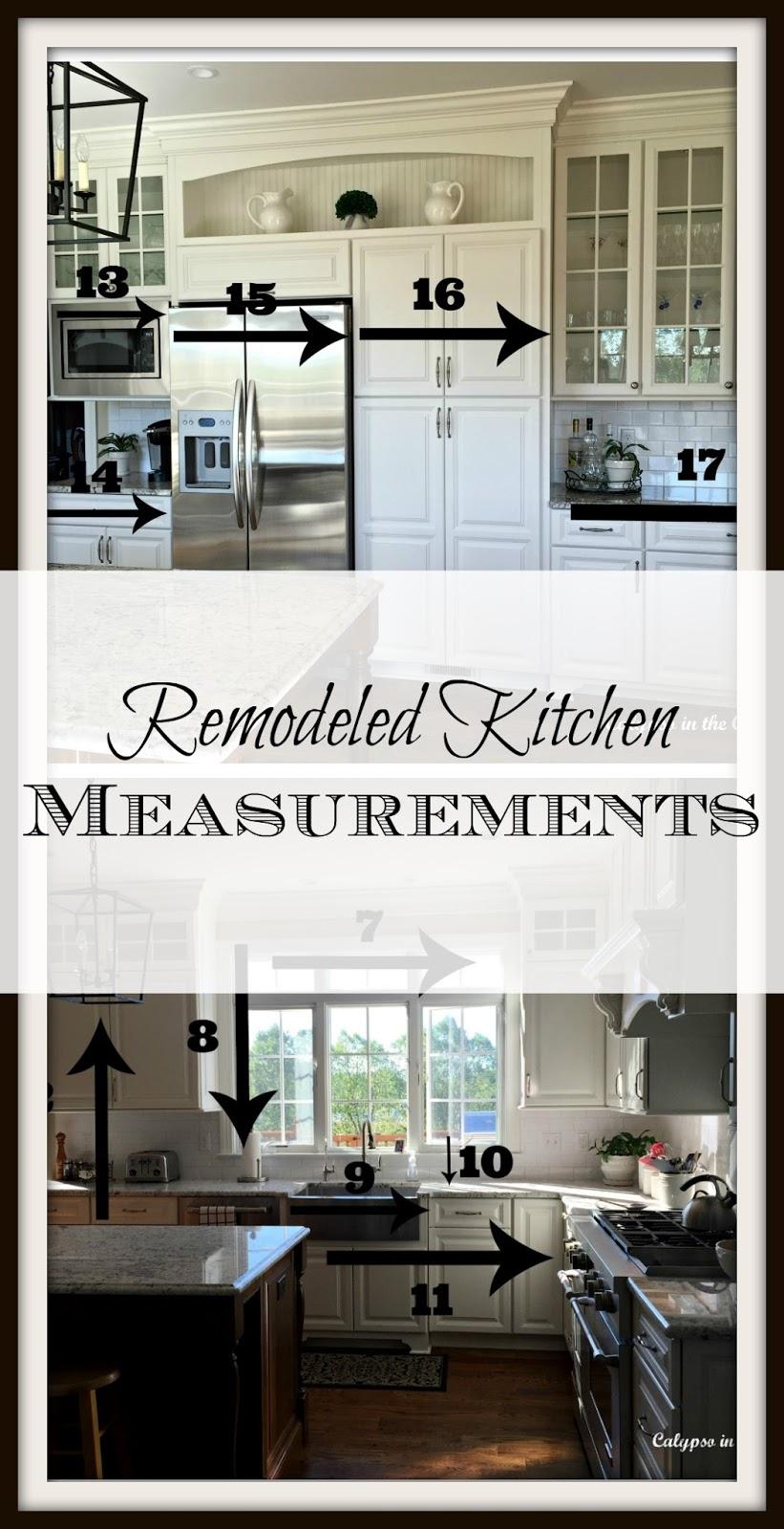 Remodeled Kitchen Measurements
