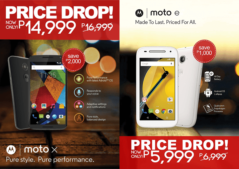 Moto X And Moto E Gets A Price Drop