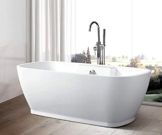 acrylic-porcelain-bathtub