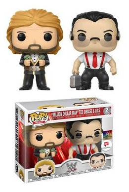 WWE Pop! Vinyl Figures Series 9 by Funko - Million Dollar Man Ted Dibiase & IRS