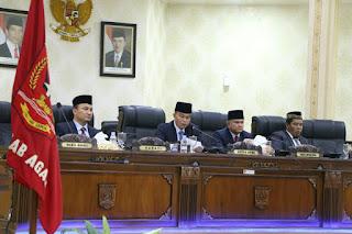 Ketua DPRD Agam Marga Indra Putra, Pimpin Paripurna Berikan Rekomendasi Terhadap LKPJ Bupati 2017