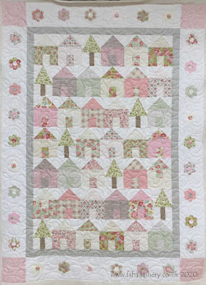 Pink House quilt made by Karen