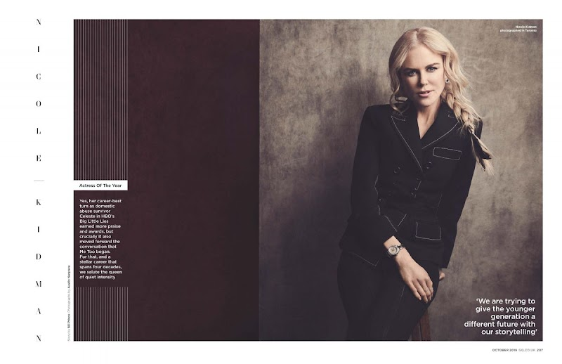Nicole Kidman Clicked for in GQ Magazine, UK October 2019