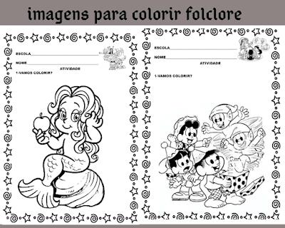 Imagens do folclore para colorir e imprimir.