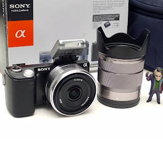 Kamera Mirrorless Sony NEX-5N Touch Fullset