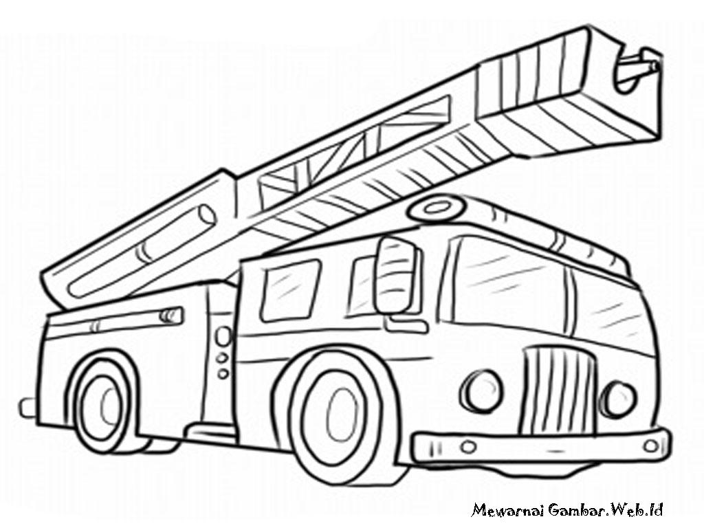 Gambar Sketsa Kartun Mobil