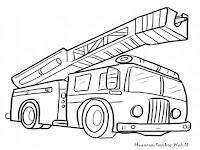 Mewarnai Gambar Mobil Pemadam Kebakaran Halaman Lembar Kartun