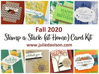 Fall 2020 Stamp a Stack (at Home) Card Kit ~ www.juliedavison.com