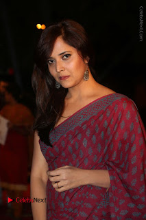 Telugu Television Anchor Anasuya Stills in Saree at Gemini TV Puraskaralu 2016 Event  0044.JPG