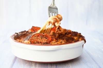 Fork in Bolognese Potato Bake
