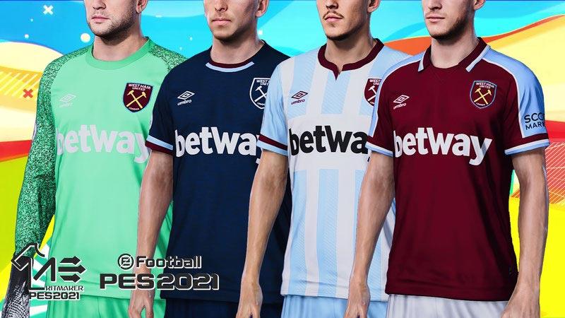 West Ham United 2021-2022 Kits For eFootball PES 2021