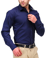 cotton-blend-navy-blue-formal-shirt-at- amazon