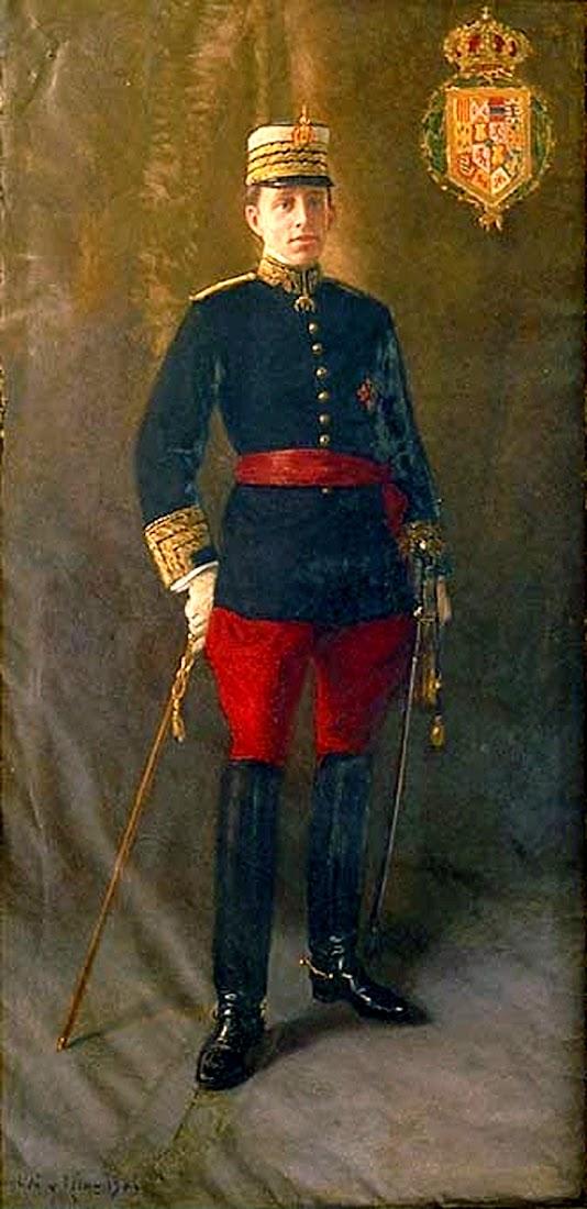 Retrato de Alfonso XIII por Baldomer Gili i Roig, Alfonso XIII, Retratos de Baldomer Gili i Roig,  Pintor español, Retrato de Alfonso XIII