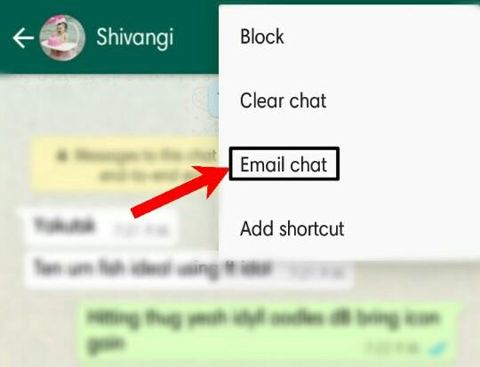 WhatsApp conversation dusro ko kaise share kare