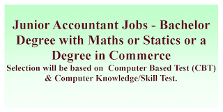Junior Accountant Jobs - Bachelor Degree with Maths or Statics or a Degree in Commerce
