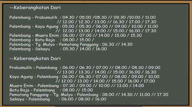 Jadwal Damri Palembang Baturaja & Harga Tiketnya