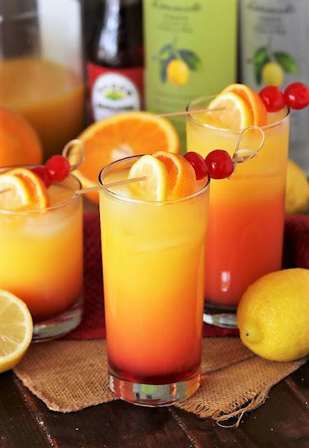 Limoncello Sunrise Cocktail Image