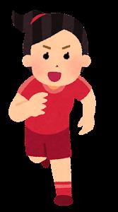 走る人たちのイラスト(スポーツ・女性2)