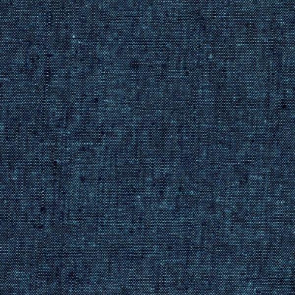 Kaufman Essex Yarn Dyed Linen Blend Peacock Fabric