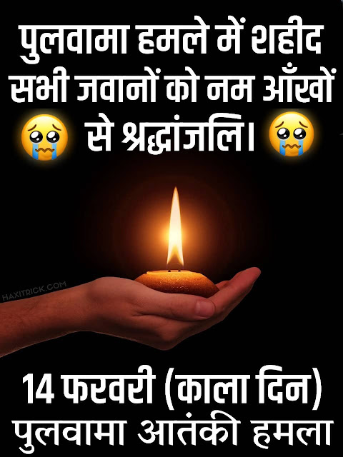 Tribute to Pulwama Martyrs in Hindi - Black Day 14 February