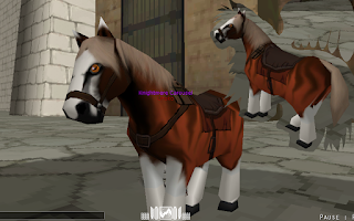 Red Browny Horse Skin - Attack On Titan Tribute Game