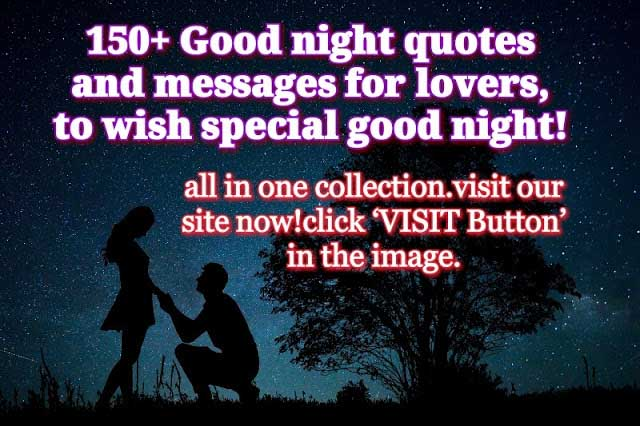 290+ amazing good night quotes and Messages for lovers