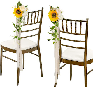 sunflower decorations for aisle chairs