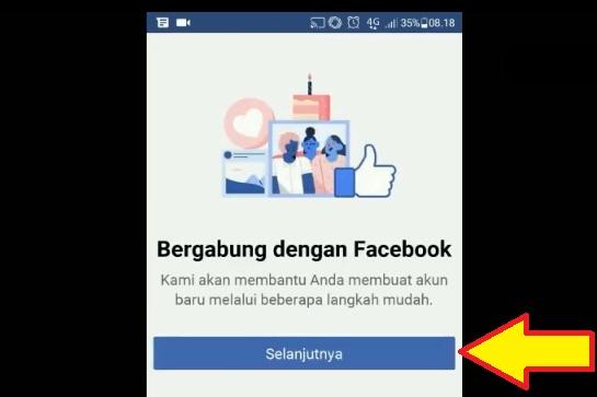 Membuka situs resmi facebook untuk daftar fb 2