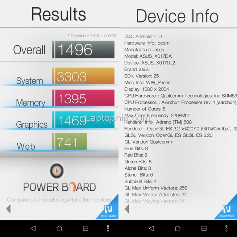 Benchmark Basemark OS II Asus Zenfone 5Q