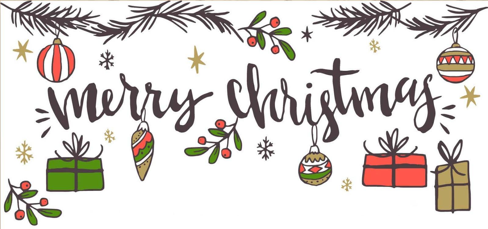 Merry Christmas Printable Banner Download Free