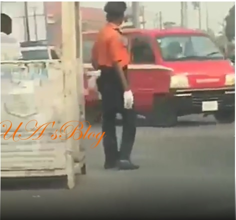 Traffic warden's mannerisms causes observers to argue about his gender (video)