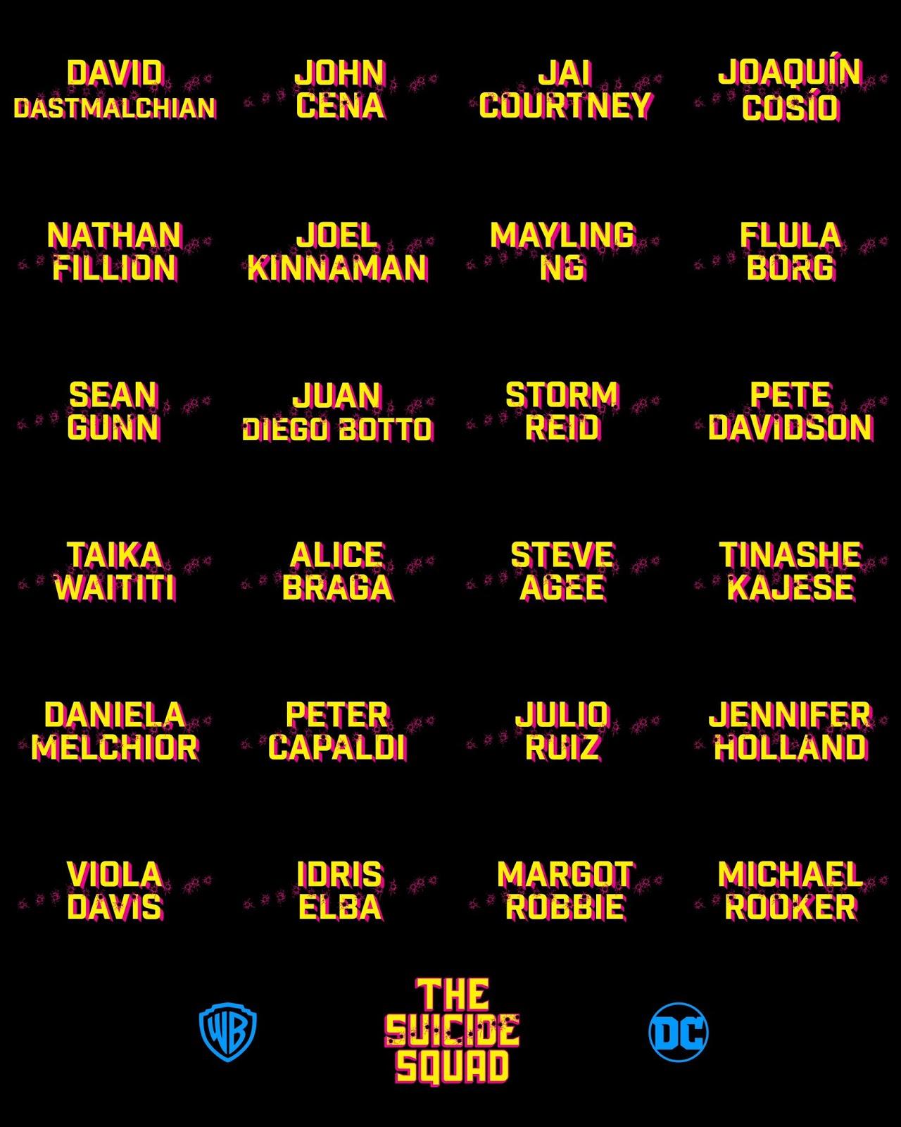 The Suicide Squad official cast list