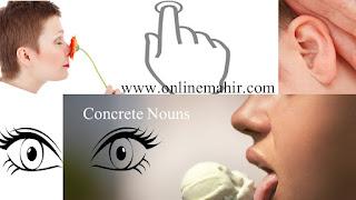 concrete noun examples in sentences image