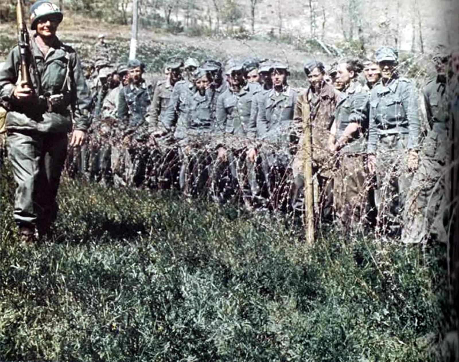 World War II in Color: German Prisoners in U S  Custody