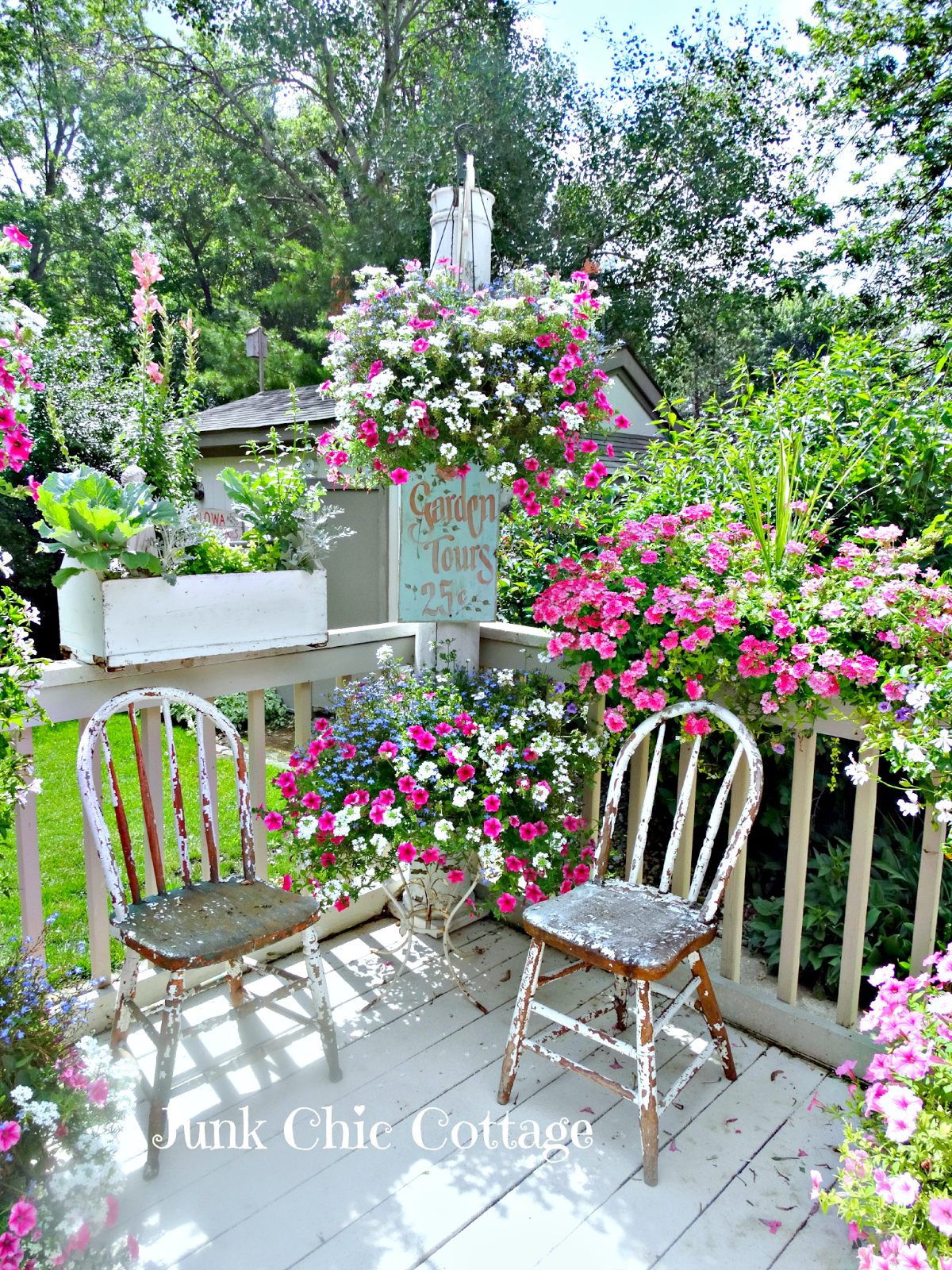 Junk Chic Cottage: Garden Sanctuary And New Lounge Chair