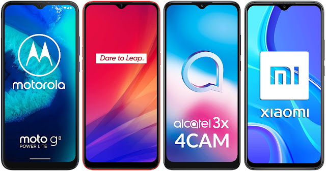 Motorola Moto G8 Power Lite vs Realme C3 vs Alcatel 3X 4CAM vs Xiaomi Redmi 9