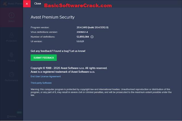 Avast Premium Security v21.2.2455 Build 21.2.6096.561 Keygen Download