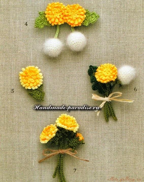 100 цветов крючком схемы