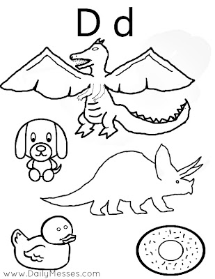 Daily Messes: D is for Dog, Donuts, and Dolphin