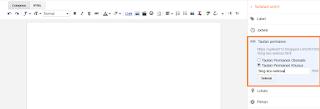 cara menulis url blog yang baru