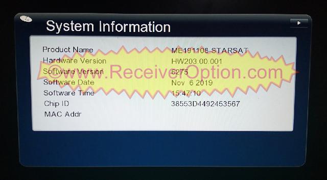 GX6605S STARSAT PRO SOFTWARE NEW UPDATE