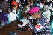 Percepat Penanganan Covid-19 Di Sorong, Korps Marinir TNI AL Kembali Gelar Serbuan Vaksinasi Maritim