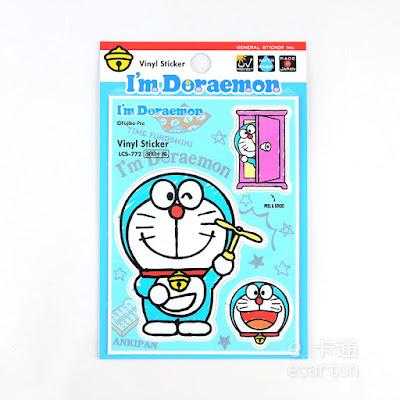 日本製正版哆啦a夢卡通圖案防水貼紙
