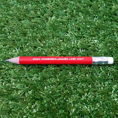 Doug Fishbone's Leisure Land Golf minigolf pencil