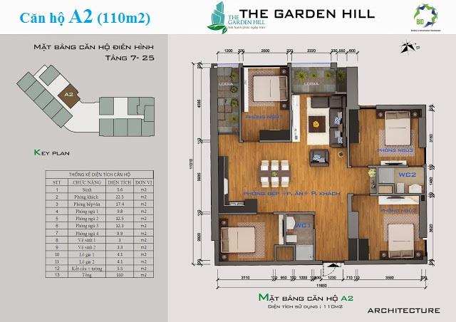 Thiết kế căn hộ A2 The Garden Hill