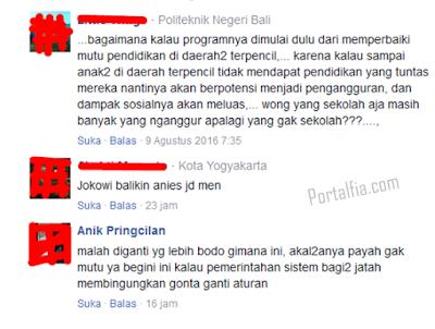 Netizen Kritik Jokowi dan Mendikbud Terkait Sistem Sekolah Sehari Penuh