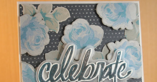 Background Inspired Card Using Altenew Vintage Roses