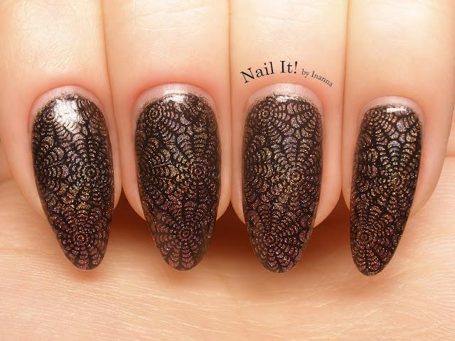 Metaliczno-brązowe pajęcze sieci (Losowe Zdobienie #2)