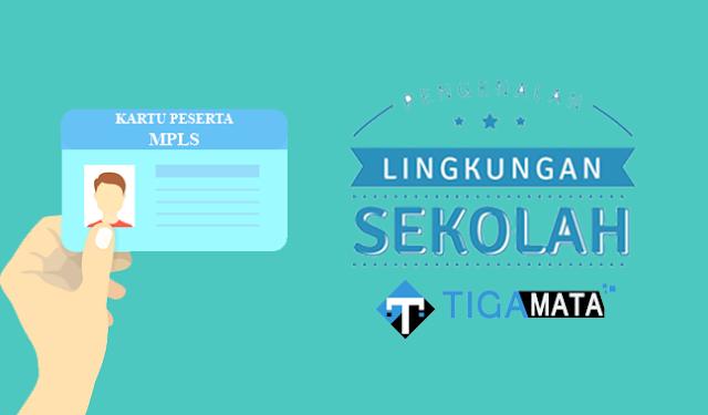 Contoh Kartu Peserta dan Panitia MPLS Sekolah (Docx + PSD)